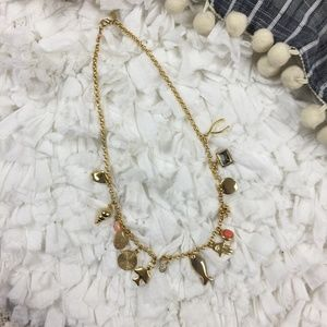 Lee Angel Gold Plate Boho Charm Necklace